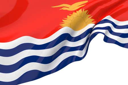 kiribati: Illustration flags of kiribati Stock Photo
