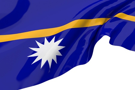 Illustration flags of Nauru illustration