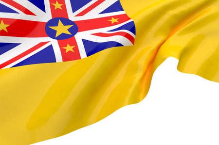 niue: Illustration flags of Niue Stock Photo