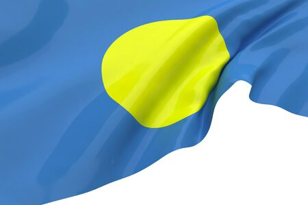 Illustration flags of Palau illustration