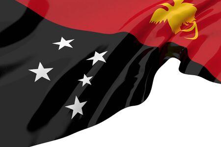 papua: Illustration flags of Papua New Guinea Stock Photo