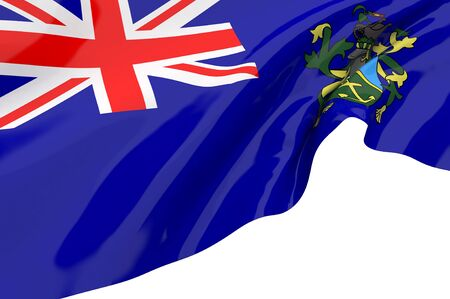 pitcairn: Illustration flags of Pitcairn Islands Stock Photo