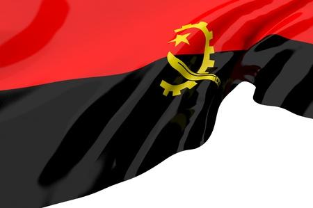 angola: Flags of Angola Stock Photo