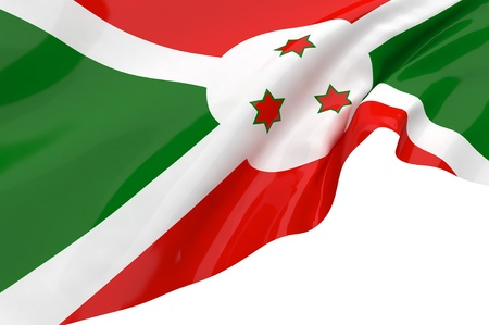 burundi: Flags of Burundi Stock Photo
