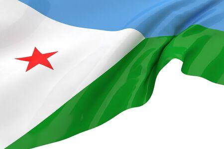djibouti: Flags of Djibouti
