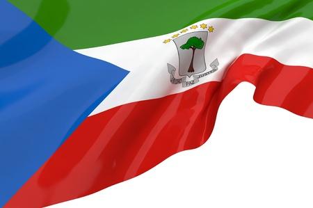 Flags of Equatorial Guinea photo