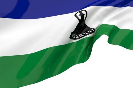 LESOTHO: Flags of Lesotho
