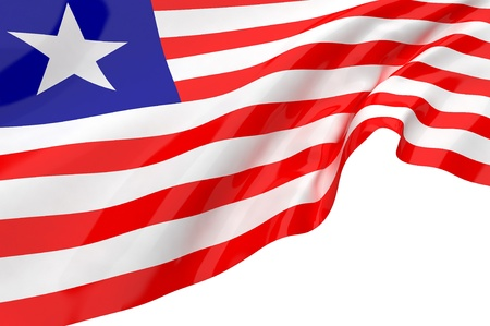 Las banderas de Liberia photo