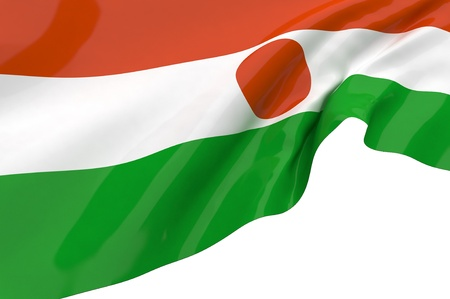 niger: Flags of Niger Stock Photo
