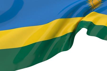 Flags of Rwanda photo
