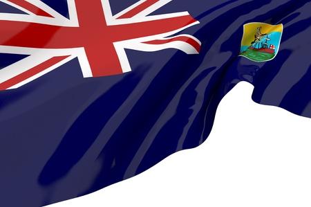 helena: Flags of Saint Helena Stock Photo