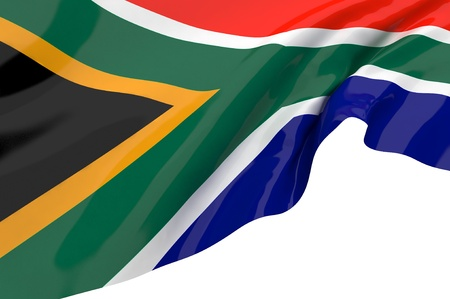 Flags of South Africa Stock Photo