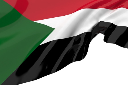 sudan: Flags of Sudan Stock Photo