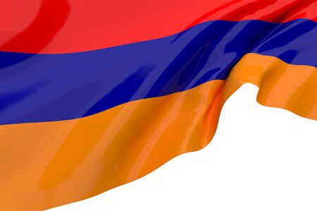 Illustration flags of Armenia illustration