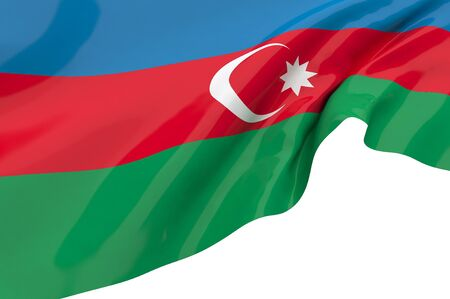 Illustration flags of Azerbaijan illustration