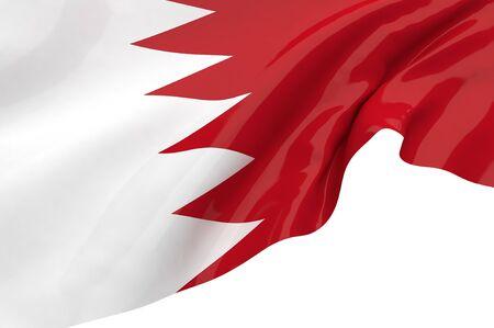 Illustration flags of Bahrain illustration