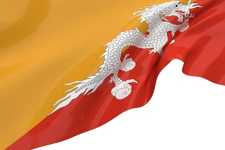 Illustration flags of Bhutan illustration