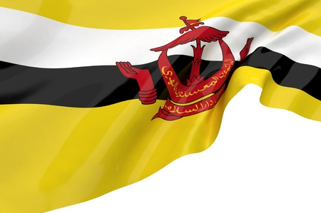 Illustration flags of Brunei illustration