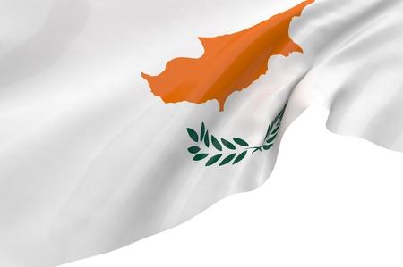 Illustration flags of Cyprus illustration