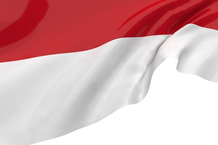 Illustration flags of Indonesia illustration