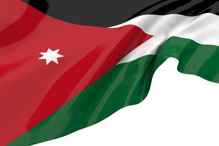 jordan: Illustration flags of Jordan Stock Photo
