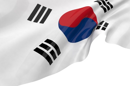 Illustration flags of Korea-South illustration