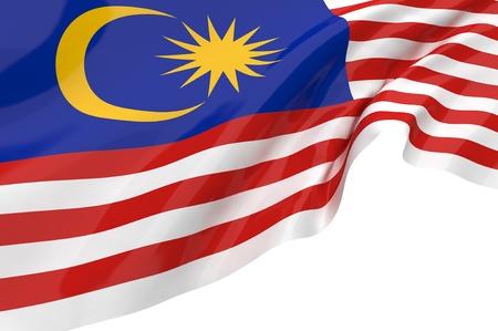 Illustration flags of Malaysia Standard-Bild