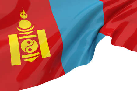 Illustration flags of Mongolia illustration