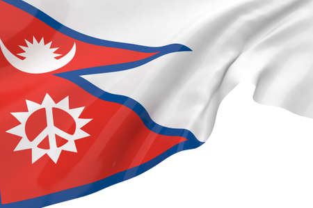 Illustration flags of Nepal illustration