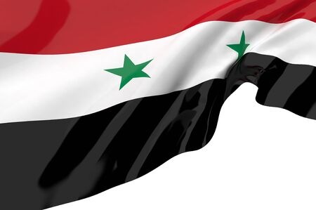 Illustration flags of Syria illustration