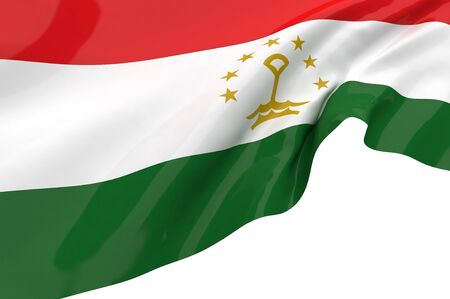 Illustration flags of Tajikistan illustration