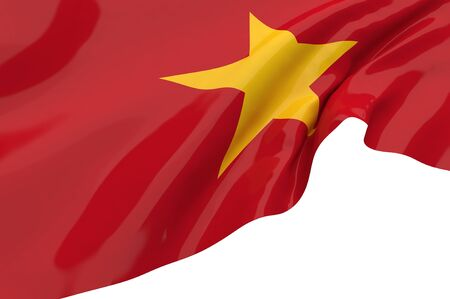 Illustration flags of Vietnam illustration