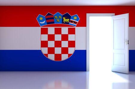bandiera croazia: Bandiera Croazia stanza vuota