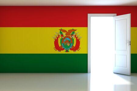 bandera de bolivia: Bandera de Bolivia en la sala vac�a