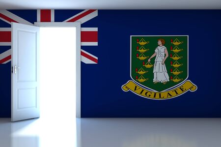 British Virgin Islands flag on empty room photo