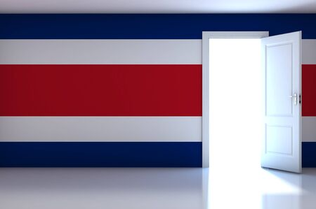 Costa rica flag on empty room photo