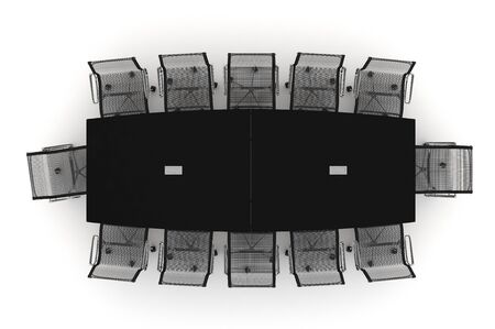 Conference Table-3d illustration  illustration