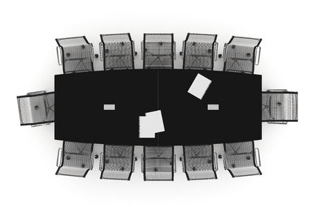Conference Table-3d illustration Stock fotó