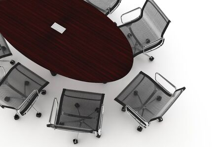 Conference Table-3d illustration  illustration