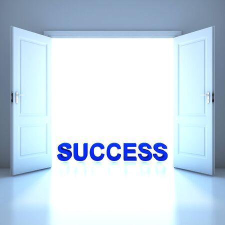 Success word conceptual in the future photo