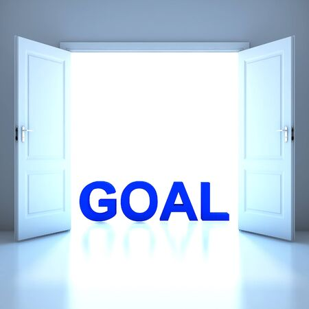 Goal word conceptual in the future photo