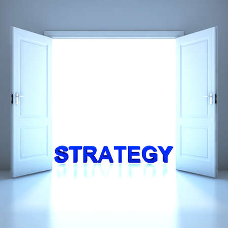 Strategy word conceptual in the future photo