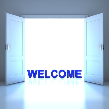 Wellcome word conceptual in the future photo