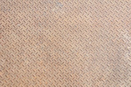 Background of old metal diamond plate Stock Photo - 13840146