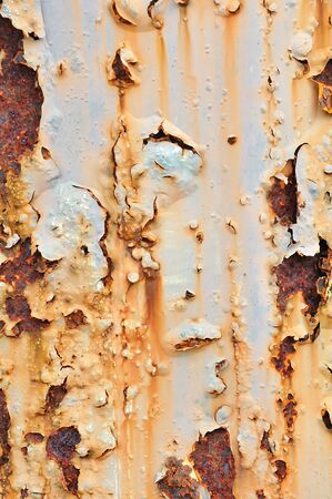 Rusty grunge texture on metal photo