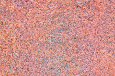 Rusty grunge texture on metal photo