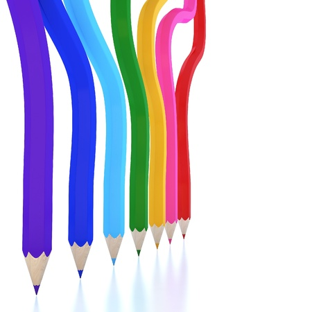 Abstract background line of colour pencil as rainbow illustration Stock Illustration - 13865999