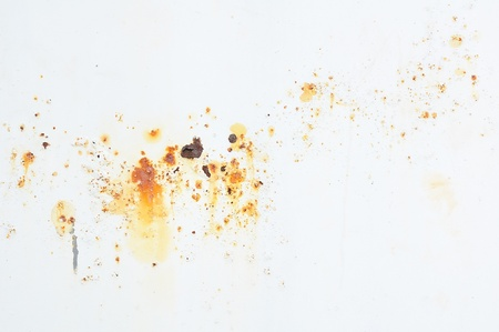 Rusty texture on white background