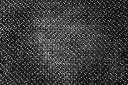 oxidized: Background of old metal diamond plate Stock Photo