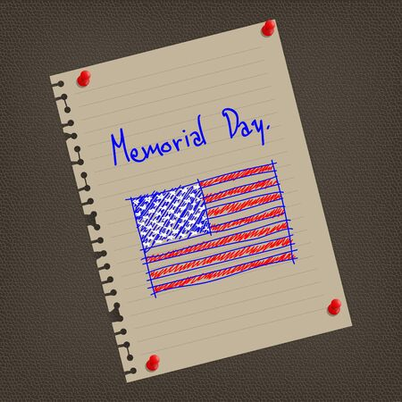 An illustration for Memorial Day with the American flag illustration